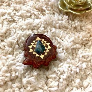 Third Eye Pinecone Pendant
